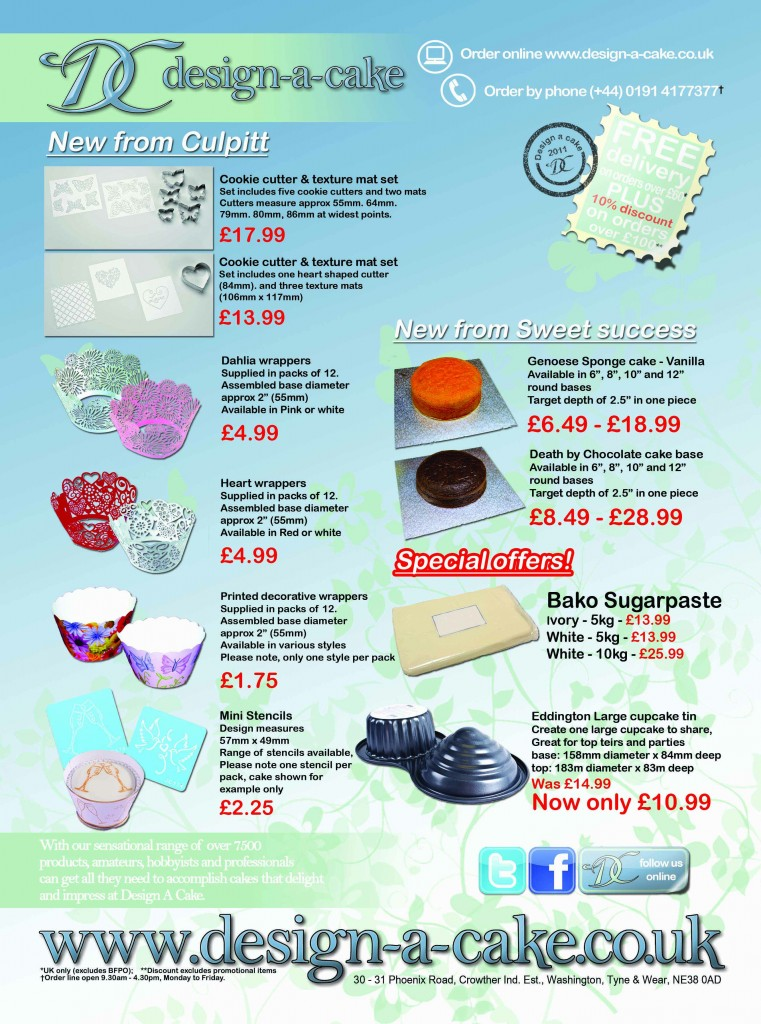Cake craft and design advert May 2011