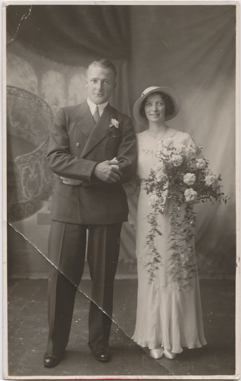 Jimmy and Phyllis Sutherland's wedding