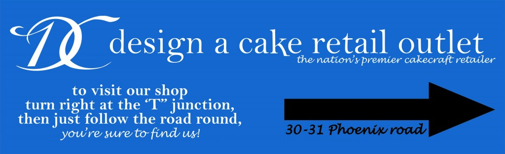 Design-a-cake shop sign