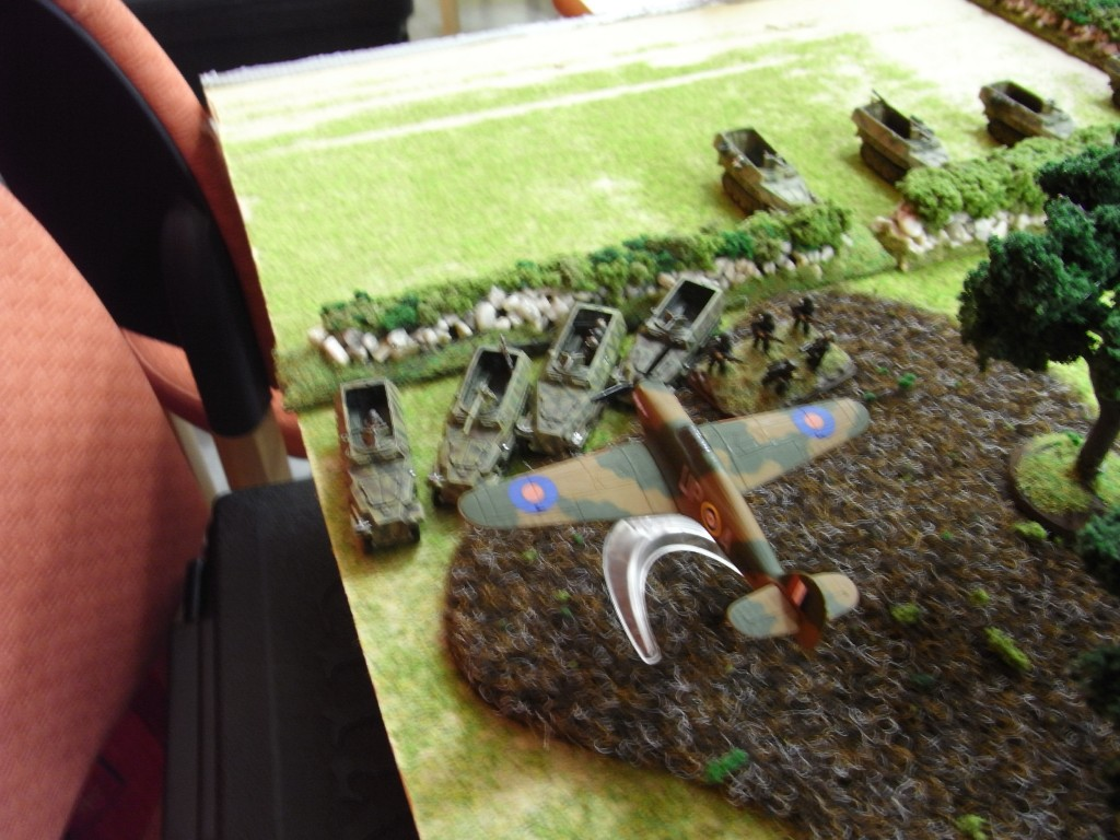 Aircraft range in on the panzer Lehr
