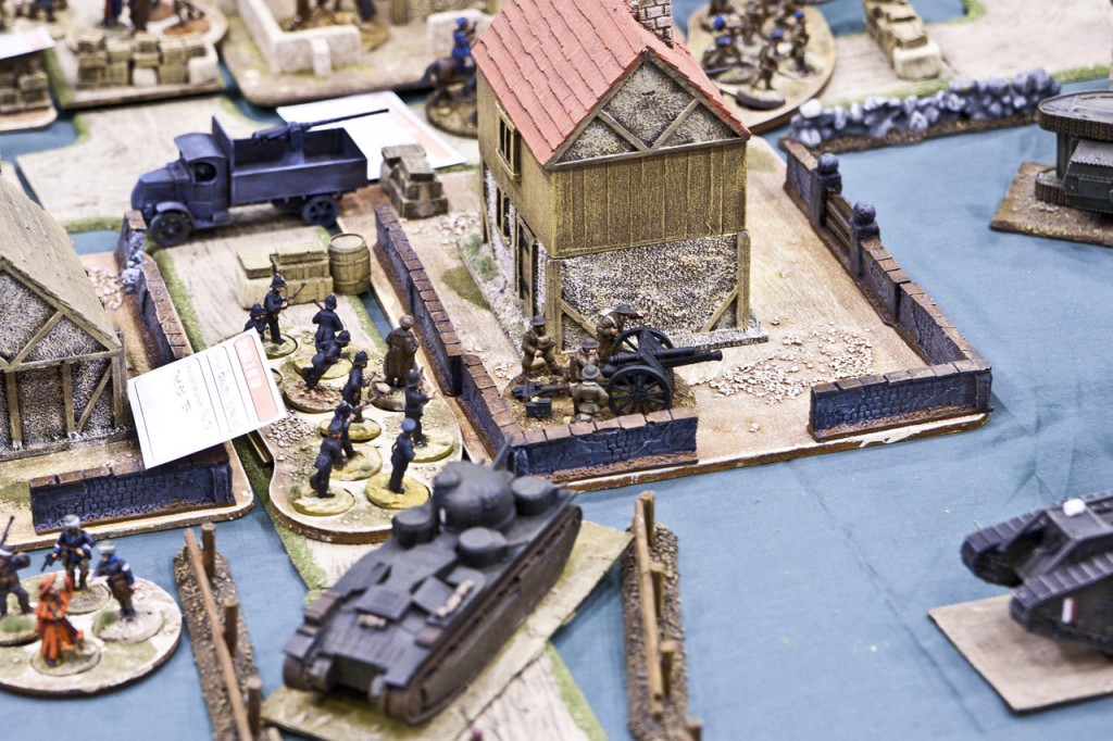 I think this was 28mm WW1, looked fabulous whatever it was