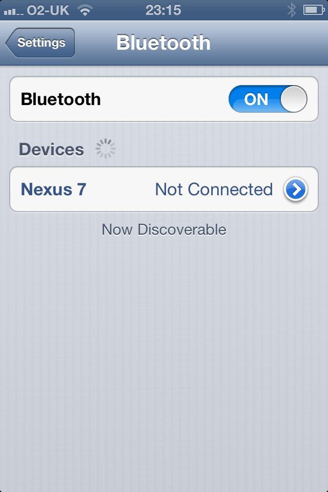 Nexus not connected