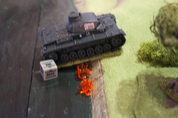 Pinned Panzer back in the water