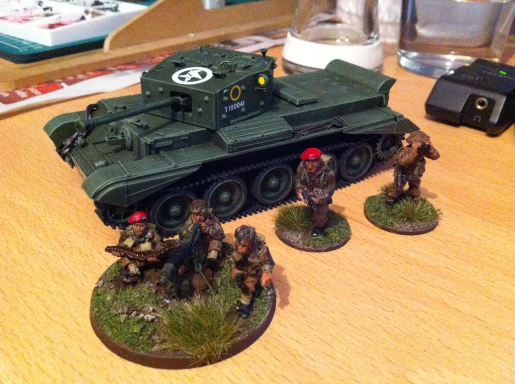 Cromwell tank next to paras