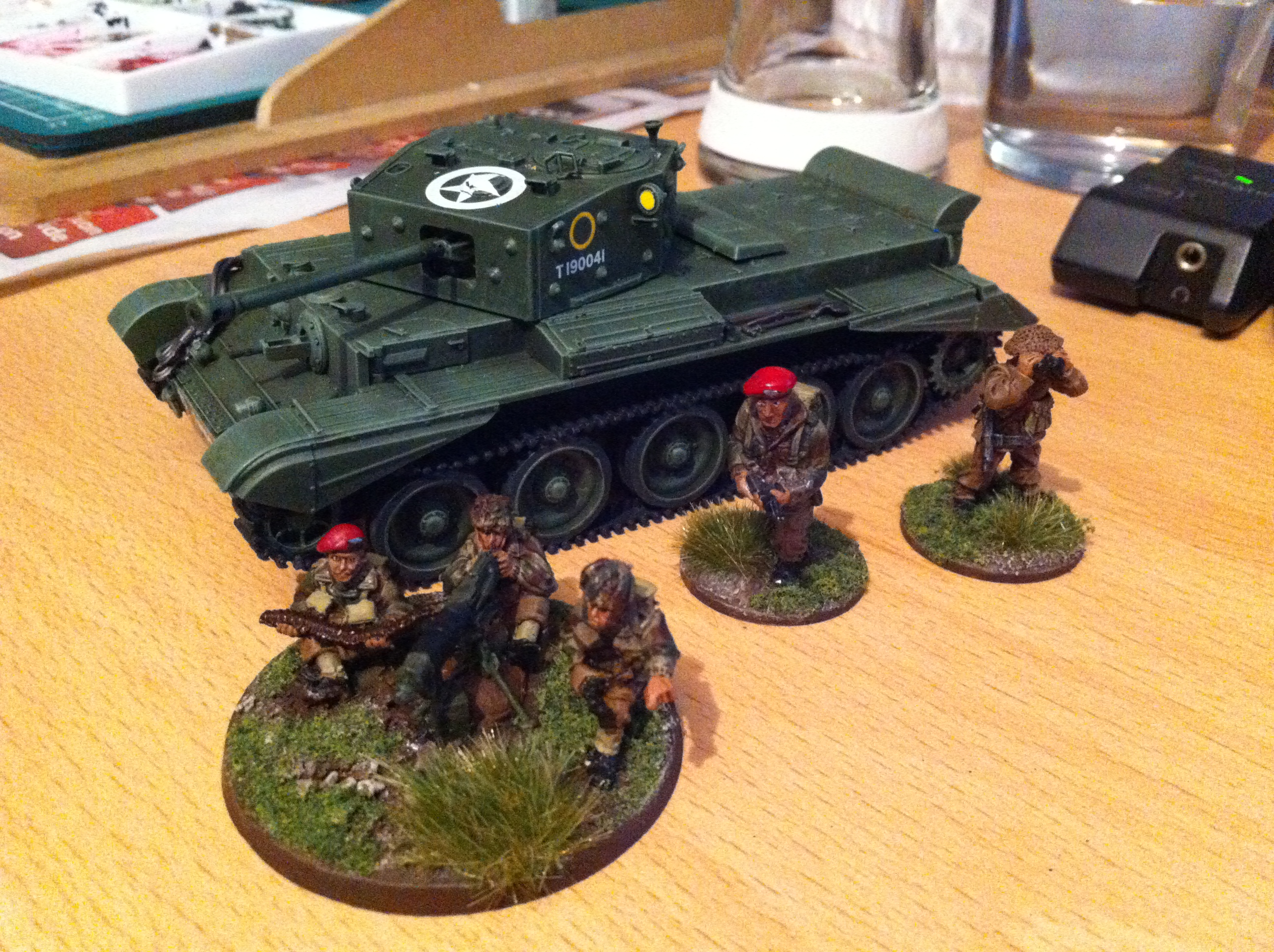 Cromwell next to paras