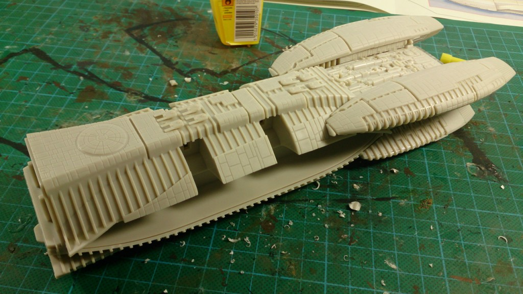 Completed Hull with engines