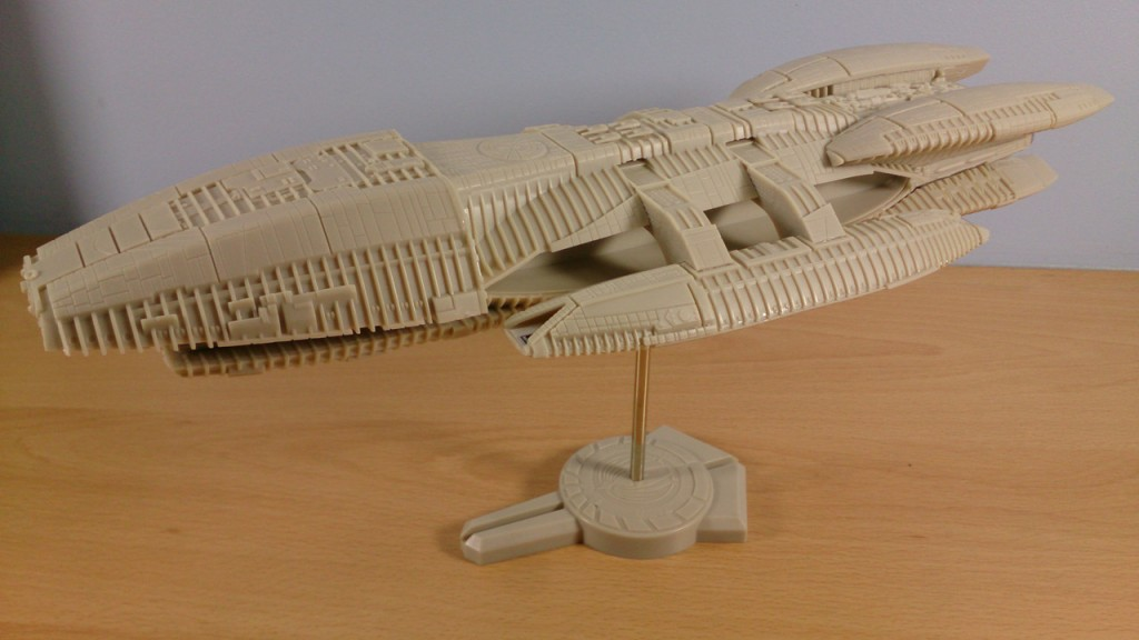 Completed Battlestar Galactica Model other side