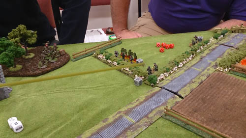 Heavily pinned germans hold the line