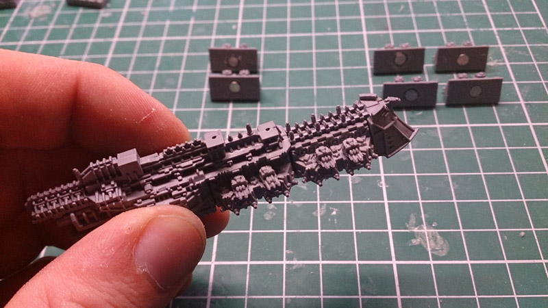 Magnetising Battlefleet Gothic Ships - attached turrets