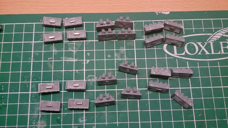 Magnetising Battlefleet Gothic Ships -  small magnets atached
