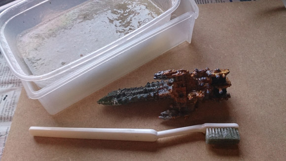 Stripping paint from miniatures - don't use your best toothbrush!