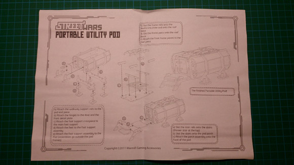 Portable Utility Pod - instructions side 2