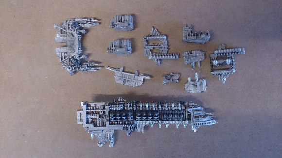 Stripping paint from miniatures - cleaned parts