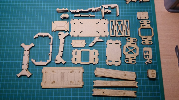 Portable Utility Pod - parts cut out