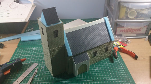 Scratch Built 28mm church - starting to look like a church!