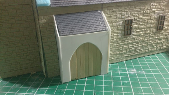Scratch Built 28mm church - front door