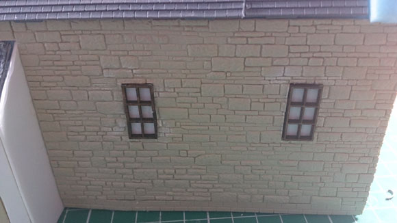 Scratch Built 28mm church - windows