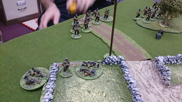 Germans moving onto the table
