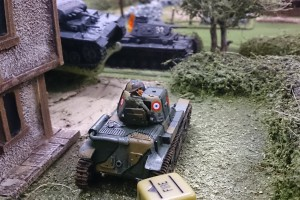 French tank ambushes the germans
