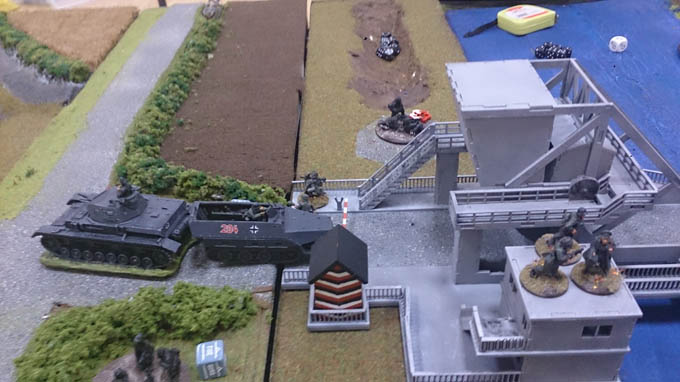 Bolt Action AAR - Halkftrack on the Bridge