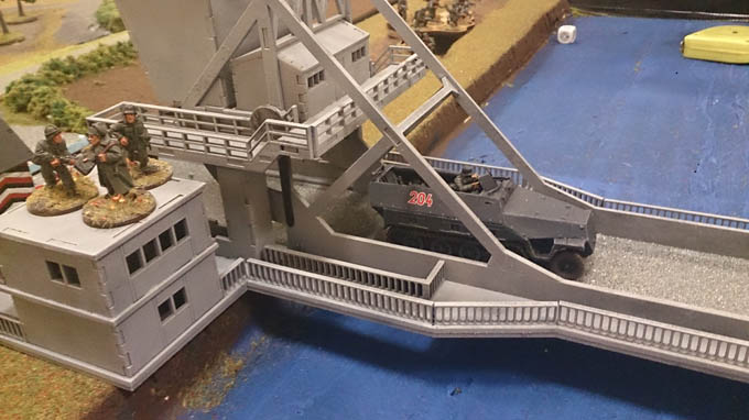 Bolt Action AAR - halftrack on the bridge