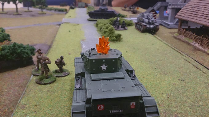 Bolt Action AAR  - Cromwell pinned
