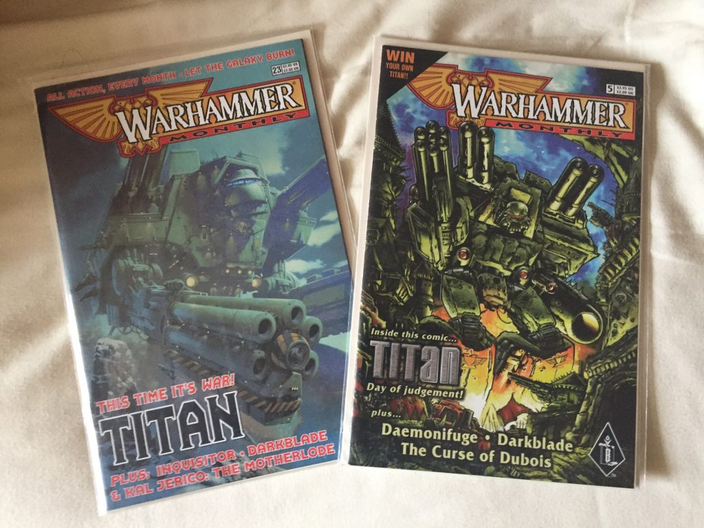 Warhammer Monthly Warlord Titan Covers