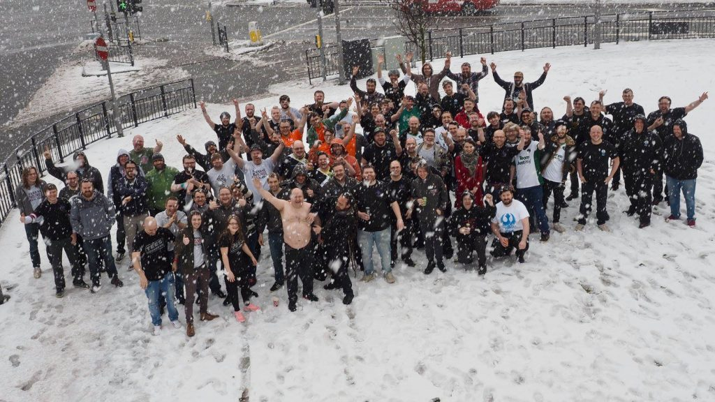 Beanie Games X-wing regional 2018 group photo #Snow