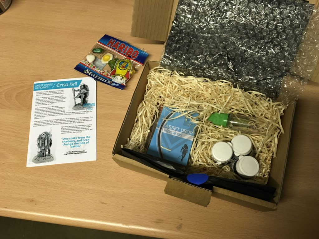 Asset Drop April Box - contents still boxed
