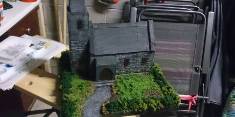 Finished scratch built 28mm church